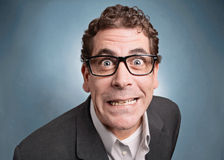Uomo d'affari pazzo Fotografia Stock Libera da Diritti