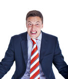 Uomo d'affari pazzo che grida Fotografie Stock