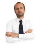 Uomo d'affari Pensive immagine stock
