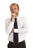 Uomo d'affari Pensive fotografia stock