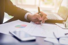 Uomo d'affari Planning Startup immagine stock