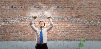 Uomo d'affari potente immagini stock