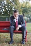 Uomo d'affari preoccupato Fotografia Stock