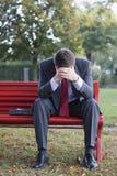 Uomo d'affari preoccupato Fotografia Stock Libera da Diritti