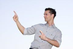 Uomo d'affari presentated Fotografie Stock Libere da Diritti