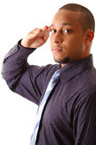 Uomo d'affari pronto fotografia stock