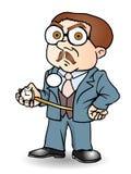 Uomo d'affari puntuale di tempo Immagine Stock