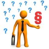 Uomo d'affari Questions Paragraph royalty illustrazione gratis