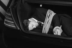 Uomo d'affari rapito. fotografia stock libera da diritti
