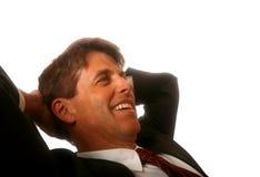 Uomo d'affari Relaxed Fotografia Stock Libera da Diritti
