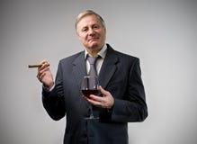 Uomo d'affari ricco Immagini Stock Libere da Diritti