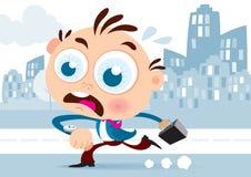Uomo d'affari Running illustrazione vettoriale