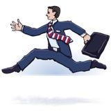 Uomo d'affari scorrente veloce Fotografie Stock