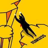 Uomo d'affari semplice nel salto di stile della siluetta senza timore royalty illustrazione gratis