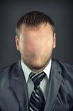 Uomo d'affari senza fronte fotografia stock