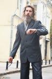 Uomo d'affari serio ed ambizioso Fotografie Stock Libere da Diritti