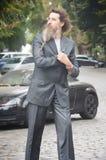 Uomo d'affari serio ed ambizioso Fotografia Stock Libera da Diritti