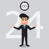 Uomo d'affari Service Open 24 ore Fotografia Stock