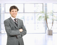 Uomo d'affari sicuro fotografia stock