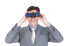 Uomo d'affari sicuro che osserva al futuro Fotografia Stock