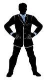 Uomo d'affari sicuro della siluetta royalty illustrazione gratis