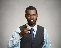 Uomo d'affari sicuro, indicante dito voi Immagini Stock Libere da Diritti