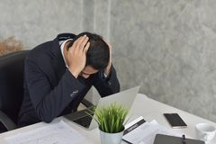 Uomo d'affari Situazione stressante fotografie stock