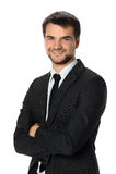 Uomo d'affari Smiling fotografie stock