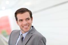 Uomo d'affari Smiling Fotografia Stock Libera da Diritti