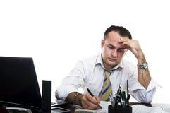 Uomo d'affari sollecitato & frustrato immagini stock