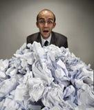 Uomo d'affari sorpreso Fotografia Stock Libera da Diritti