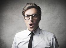 Uomo d'affari sorpreso Immagini Stock Libere da Diritti