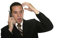 Uomo d'affari sorpreso Immagini Stock