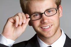 Uomo d'affari sorridente Immagine Stock