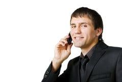 Uomo d'affari sorridente Fotografia Stock Libera da Diritti