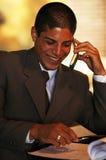 Uomo d'affari sorridente Fotografia Stock
