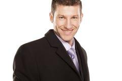Uomo d'affari sorridente di Sucefull Fotografia Stock