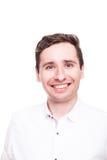 Uomo d'affari sorridente sicuro nell'usura convenzionale Fotografie Stock