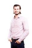 Uomo d'affari sorridente sicuro nell'usura convenzionale Immagine Stock Libera da Diritti