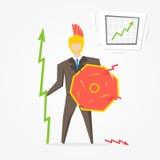 Uomo d'affari spartano con l'illustrazione di vettore del grafico illustrazione di stock