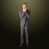 Uomo d'affari spaventato Fotografia Stock Libera da Diritti