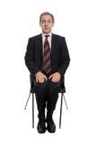 Uomo d'affari spaventato Fotografia Stock