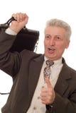 uomo d'affari su bianco Fotografie Stock