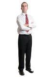 Uomo d'affari su bianco Fotografia Stock