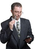 Uomo d'affari sul lavoro Immagine Stock