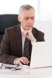 Uomo d'affari sul lavoro. Fotografia Stock