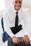 Uomo d'affari sul lavoro Fotografia Stock