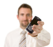 Uomo d'affari sul telefono Immagine Stock Libera da Diritti