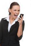 Uomo d'affari sul telefono. Fotografia Stock
