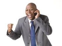 Uomo d'affari sul telefono delle cellule Fotografia Stock Libera da Diritti
